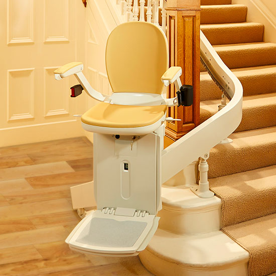 We have the best selection and prices of Custom Curved Home-Residential Stair Lifts by Bruno and Acorn
