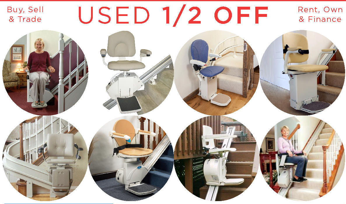 Used Chair StairLifts 1/2 OFF Motorized Unit